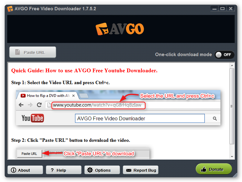 Song and video downloader software.